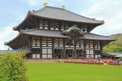 People visiting Great Buddha Hall (daibutsuden) at Todai-ji Temp Royalty Free Stock Photo