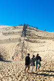 People visiting the highest sand dune of Pyla in Europe Stock Photography