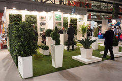 People visiting HOMI, home international show in Milan, Italy Stock Photos