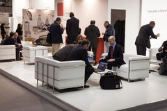 People visiting HOMI, home international show in Milan, Italy Royalty Free Stock Photos