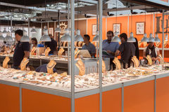 People visiting HOMI, home international show in Milan, Italy Royalty Free Stock Image