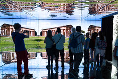 People visiting Italy pavilion at Expo 2015 in Milan, Italy Stock Images