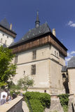 People visiting the Karlštejn Castle Stock Image