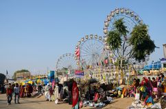People visiting local market,Pushkar,India Royalty Free Stock Images