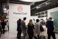 People visiting MasterChef stand at HOMI, home international show in Milan, Italy Stock Photos