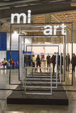 People visiting Miart 2015 in Milan, Italy Stock Photography