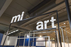 People visiting Miart 2015 in Milan, Italy Royalty Free Stock Photography