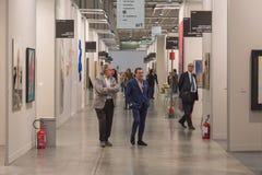People visiting Miart 2015 in Milan, Italy Royalty Free Stock Photos