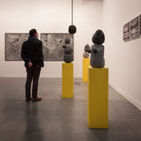 People visiting Miart 2014 in Milan, Italy Stock Photography