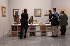 People visiting Miart 2014 in Milan, Italy Royalty Free Stock Photography