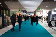 People visiting Mido 2014 in Milan, Italy Royalty Free Stock Photos