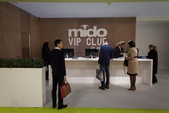 People visiting Mido 2014 in Milan, Italy Royalty Free Stock Photography