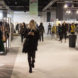 People visiting Mipap trade show in Milan, Italy Stock Photos