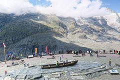 People visiting the observation platform of Grossglockner Paste Stock Photo