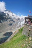People visiting the observation platform of Grossglockner Paste Royalty Free Stock Photography