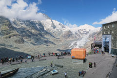 People visiting the observation platform of Grossglockner Paste Royalty Free Stock Photos