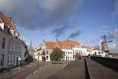 People visiting the old town of wijk bij duurstede Stock Photo