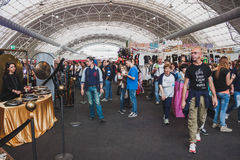 People visiting Orient Festival in Milan, Italy Royalty Free Stock Photos