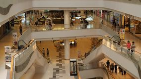 People visiting recently opened Central WestGate stock video footage