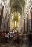 People visiting the Saint Vitus Cathedral, Prague Stock Photography