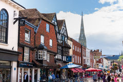 People visiting Salisbury Royalty Free Stock Photos