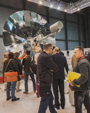 People visiting Solarexpo 2014 in Milan, Italy stock image