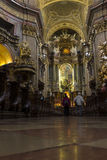 People visiting the st. Peters church in Vienna Stock Images