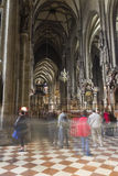 People visiting the St. Stephen's Cathedral in Vienna Stock Photography