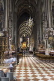 People visiting the St. Stephen's Cathedral in Vienna Stock Image