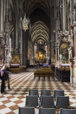 People visiting the St. Stephen's Cathedral in Vienna Royalty Free Stock Photography