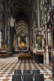 People visiting the St. Stephen's Cathedral in Vienna Royalty Free Stock Photo