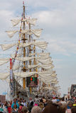 People visiting tall ships Royalty Free Stock Photo