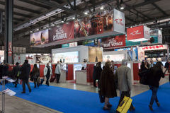 People visiting Turkey stand at Bit 2014, international tourism exchange in Milan, Italy Royalty Free Stock Image