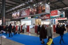 People visiting Turkey stand at Bit 2014, international tourism exchange in Milan, Italy Royalty Free Stock Image