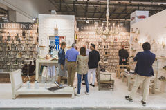 People visiting Tuttofood 2015 in Milan, Italy Royalty Free Stock Photo