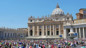 People visiting vatican city day time, 4k stock video
