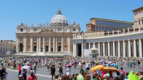 People visiting vatican city day time, 4k stock footage