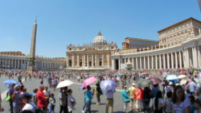 People visiting vatican city day time, 4k stock video footage
