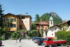 People visiting on walking the ancient village of Ciona Royalty Free Stock Photo