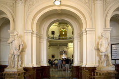 People visit Texas state capital Stock Photo