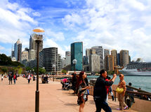 People vistiting Sidney Harbour. Stock Images