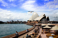 People vistiting Sidney Opera House Royalty Free Stock Photography