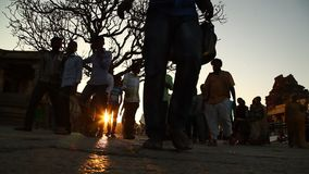 People in Vitala temple Hampi Karnataka. India stock video