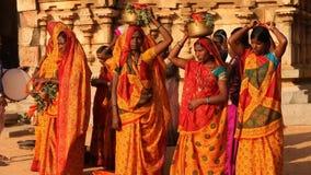People in Vitala temple Hampi Karnataka stock footage