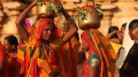 People in Vitala temple Hampi Karnataka stock video footage