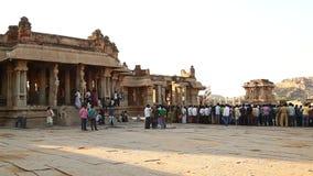 People in Vitala temple Hampi Karnataka. India stock video footage
