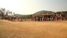 People in Vitala temple Hampi Karnataka. India stock footage