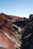People on volcano Stock Image