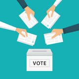 People Vote at Election royalty free illustration
