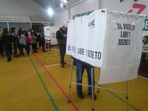 People votes in mexico Stock Photo